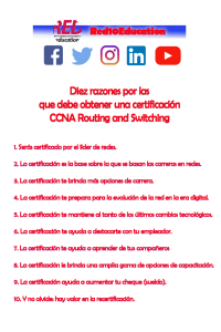 10 razones por las que debes certificarte CCNA