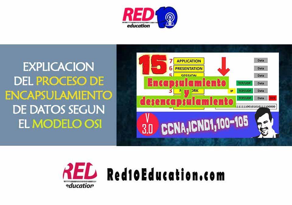 EXPLICACION DEL PROCESO DE ENCAPSULAMIENTO DE DATOS SEGUN EL MODELO OSI